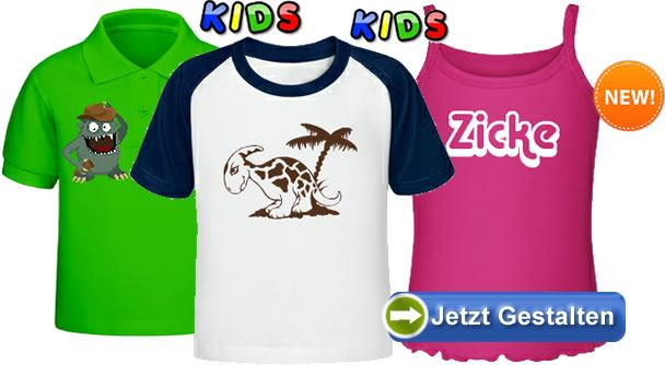 new concept f6394 1a753 Kinder T-Shirts bedrucken