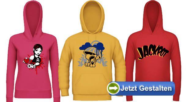 huge discount 7e79f 99773 Hoodie selbst gestalten und bedrucken lassen