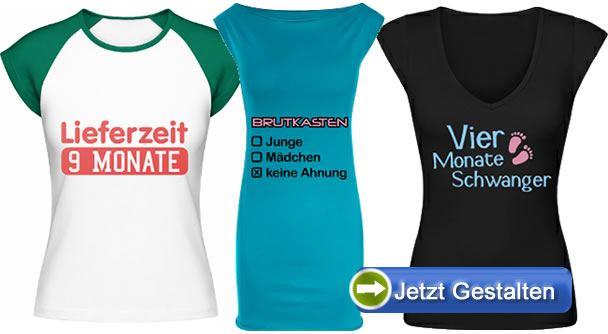 Bedruckte-Schwangerschafts-T-Shirts